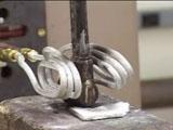 真鍮のバルブユニットをろう付け